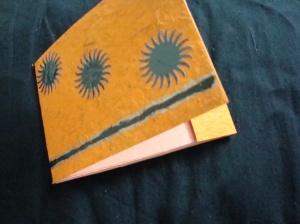 Flying gear matchbook notepad